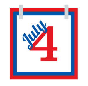 Use 4th of July clip art with iClicknPrint.