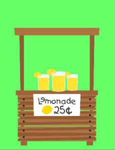 Create green lemonade stand poster with iCLicknPrint. Use poster's templates.
