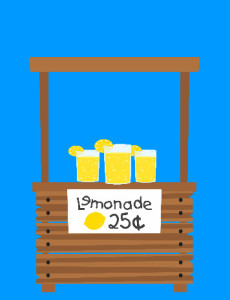 Use iCLicknPrint clip arts and templates to create lemonade poster.
