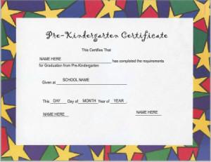 Use iClicknPrint Template to create Pre-kindergarten certificate