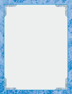 blue borders design