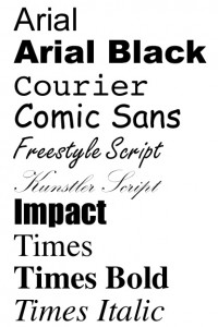Try iClicknPrint font samples