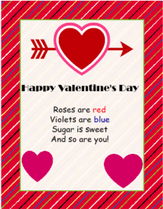 Classroom Valentine - iClicknPrint Valentine's Day Templates