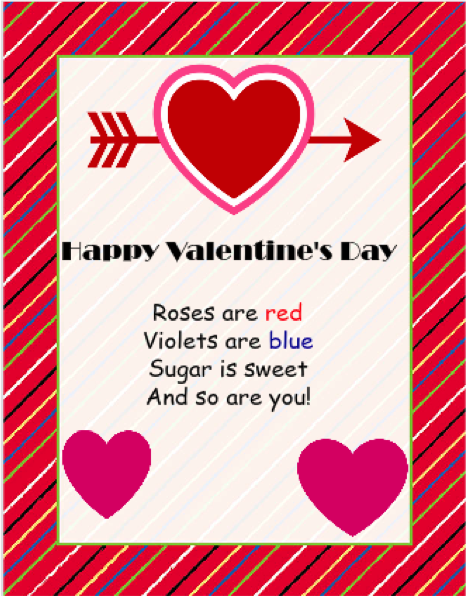 Use iClicknPrint Templates to create Valentine Cards