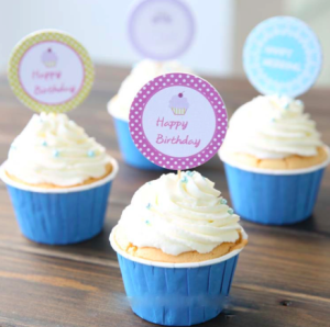 Personalize cupcakes with iCLickPrint