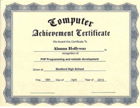 Employee certificates use iclicknprint certificate templates personalize achievement certificate templates with iclicknprint yelopaper Images