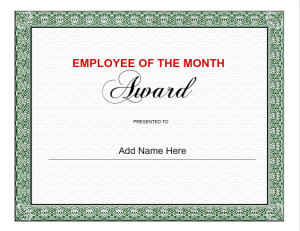 Use iClicknPrint Templates to design Employee of the Month Certificate Template