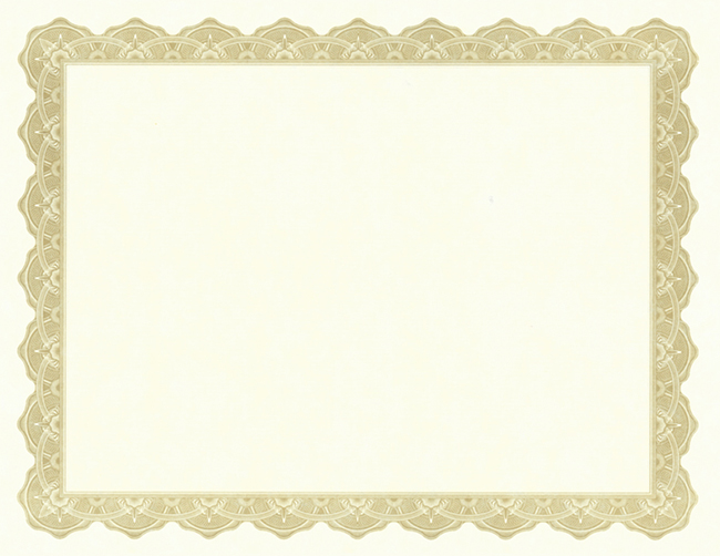 Use IClicknPrint Certificate Templates To Customize Blank Certificate Paper.  Award Paper Template