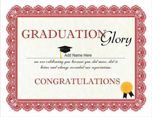 graduation certificate template  Graduation Certificate Templates - Customize with iClicknPrint