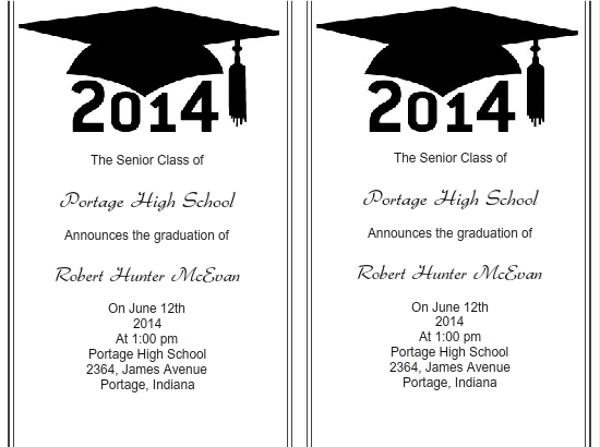 Use Iclickprint Templates For Graduation Invitations. Customize Now