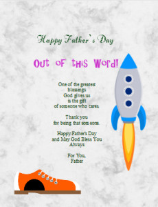 Use iClicknPrint Clip Arts and Templates to create unique Father's Days Letters.