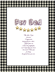 Use iClicknPrint templates to create unique Father's Days Letters.